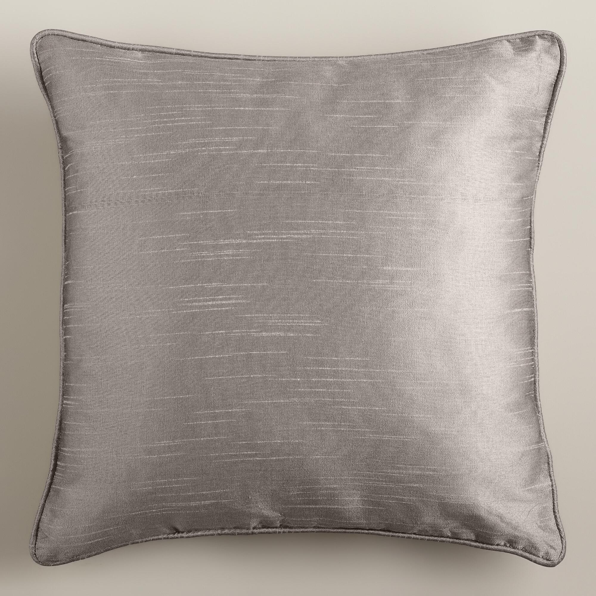 How To Make A Throw Pillow With Piping : Dupioni Throw Pillow with Piping World Market