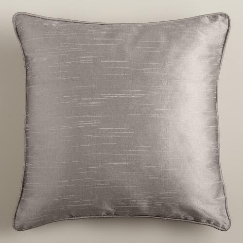 Dupioni Throw Pillow with Piping