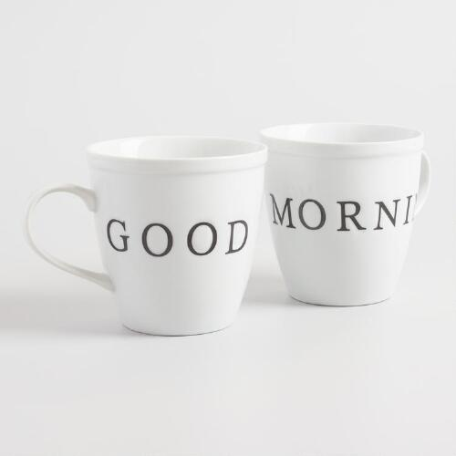 Good Morning Mugs Set of 2