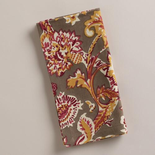 Avani Floral Napkins, Set of 4