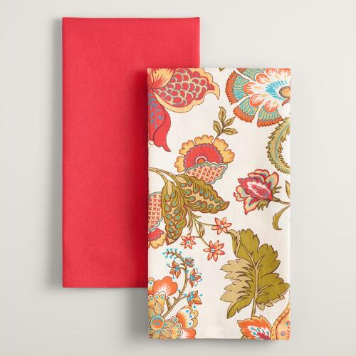 Floral Kavita Kitchen Towels Set of 2