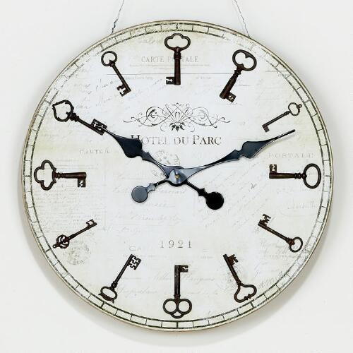 Norine Metal Key Clock