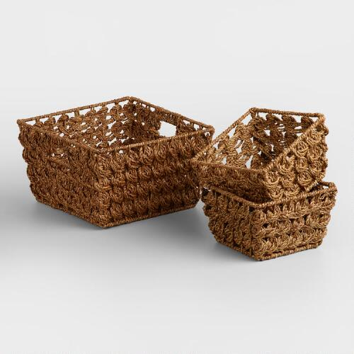 Brown Betty Coin Weave Baskets