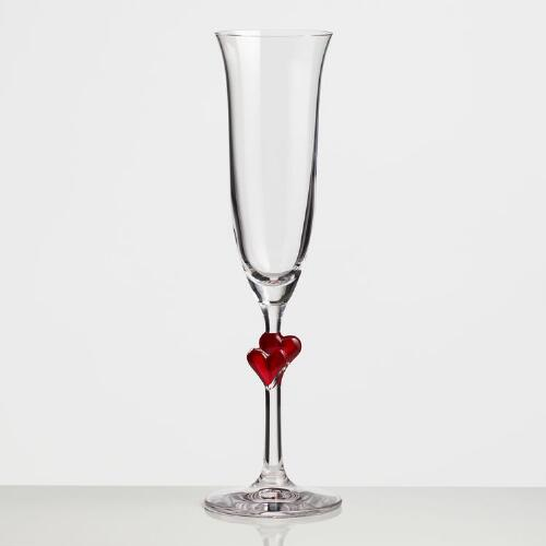 Heart Champagne Flute, Set of 2