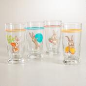 Bunny Juice Glasses, Set of 4