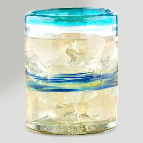 Multicolor Rocco Double Old-Fashioned Glasses, Set of 4