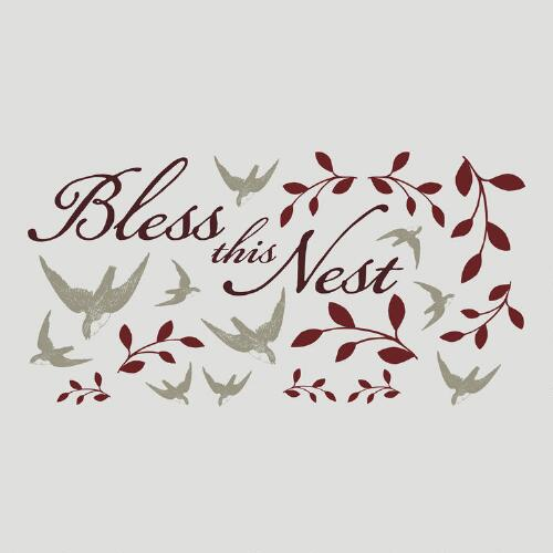 Bless this Nest Vinyl Wall Decal