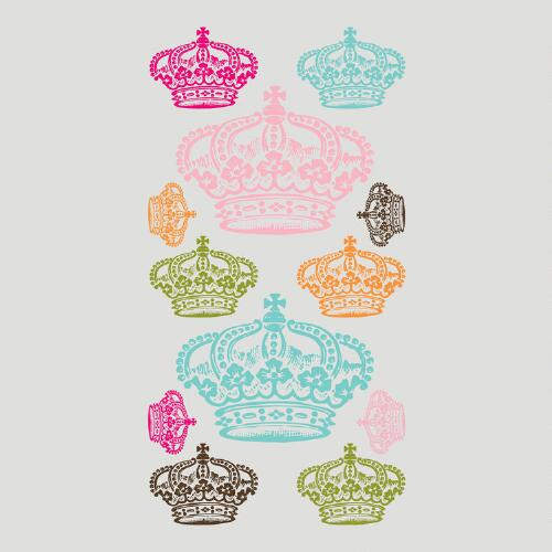 Rhinestone Crowns Vinyl Wall Decal