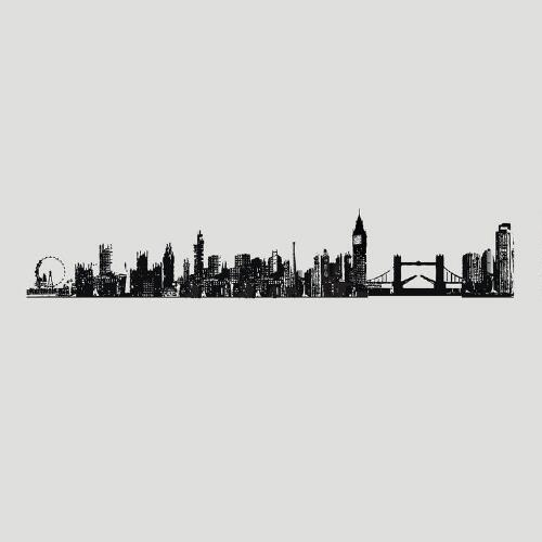 London Cityscape Vinyl Wall Decal