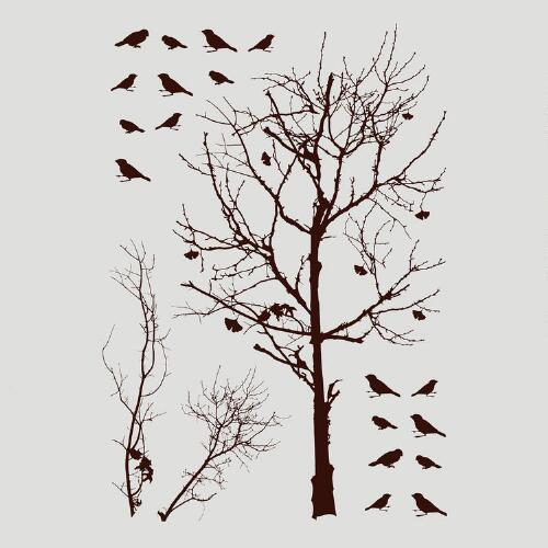 Birds in Tree Vinyl Wall Decal