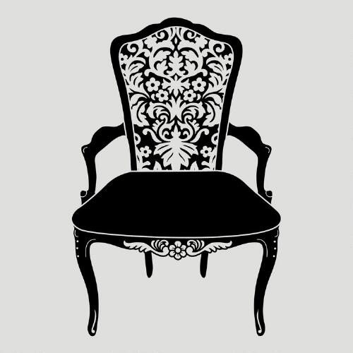 Vintage Chair Vinyl Wall Decal