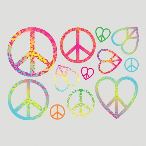 Peace Signs Vinyl Wall Decal