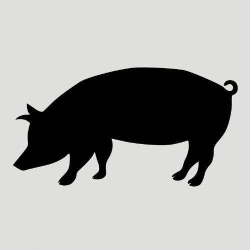 Pig Chalkboard Vinyl Wall Decal