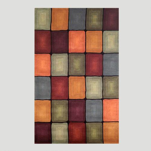 Multicolored Boxes Rug
