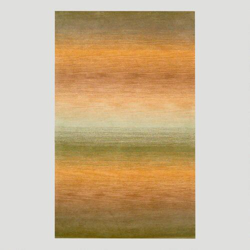Ombre Stripes Rug, Sage