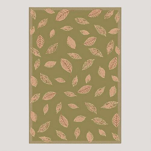 Leaf Indoor-Outdoor Rug, Green