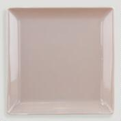 Taupe Coupe Square Dinner Plate, Set of 2