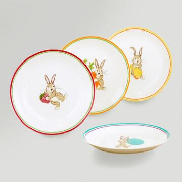 Bunny Plates, Set of 4