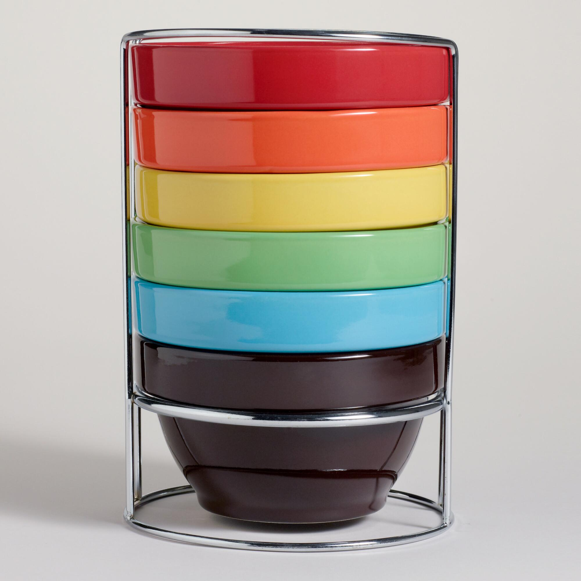Multi-Color Stacking Bowl, Set of 6 - World M ...