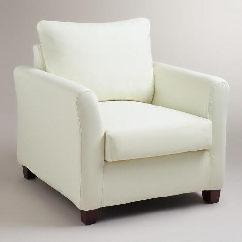 Ivory Luxe Chair Slipcover
