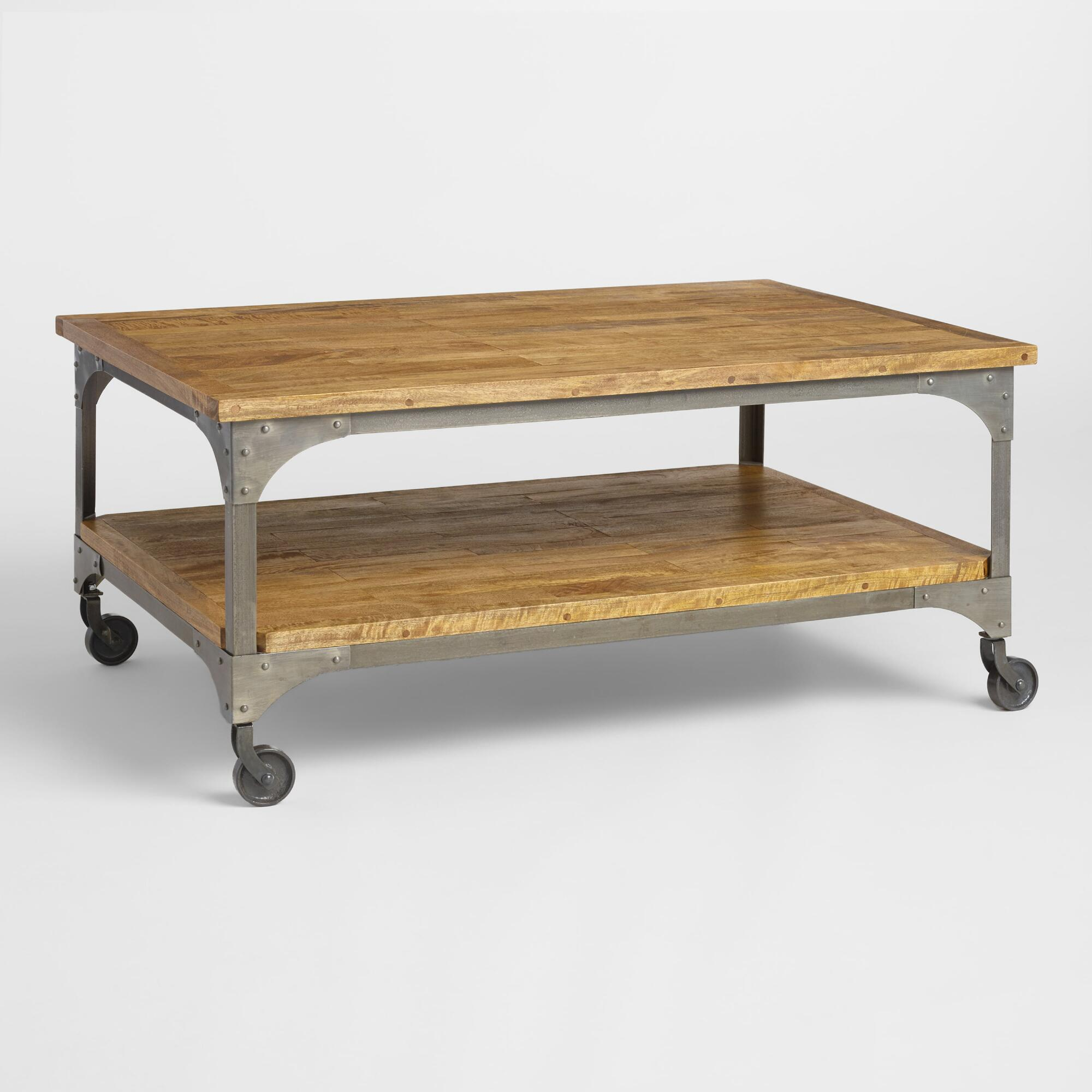 Superb img of Wood and Metal Aiden Coffee Table World Market with #391C12 color and 2000x2000 pixels