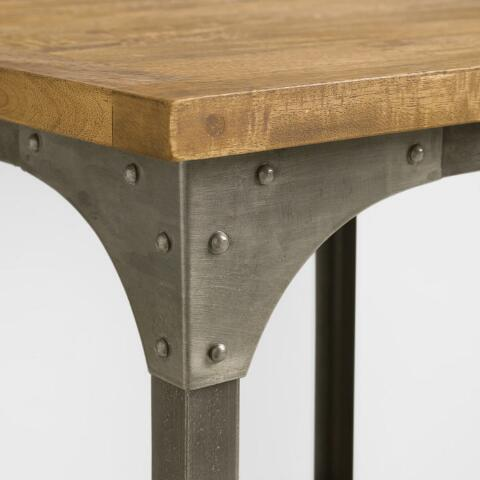 Wood And Metal Aiden End Table World Market