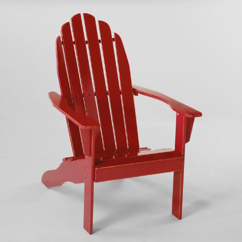 Pompeian Red Classic Adirondack Chair