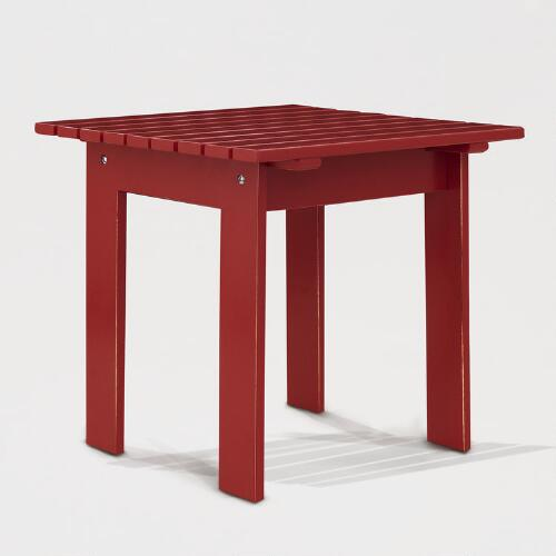 Pompeian Red Classic Adirondack Side Table