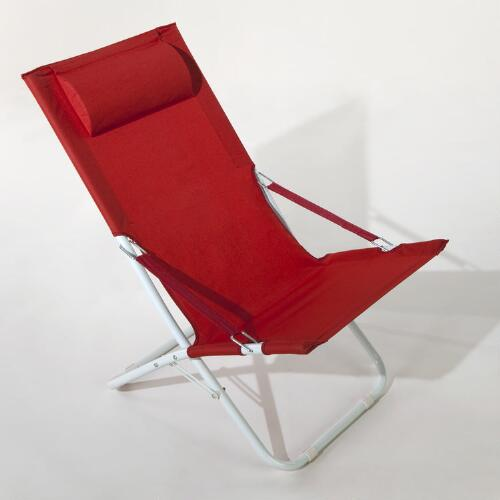 Pompeian Red Beach Chair