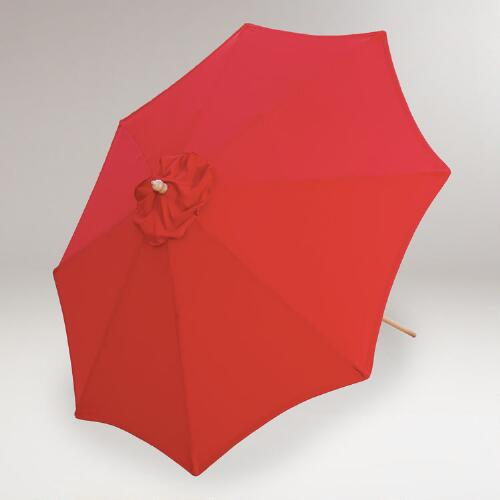 9-Ft. Umbrella, Pompeian Red