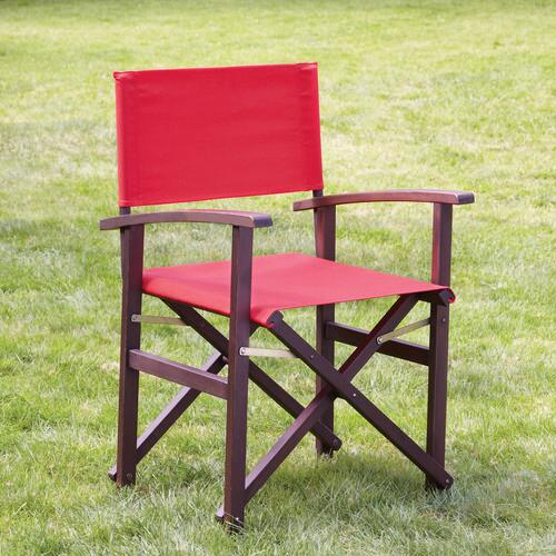 Pompeian Red Bali Club Chair Canvas