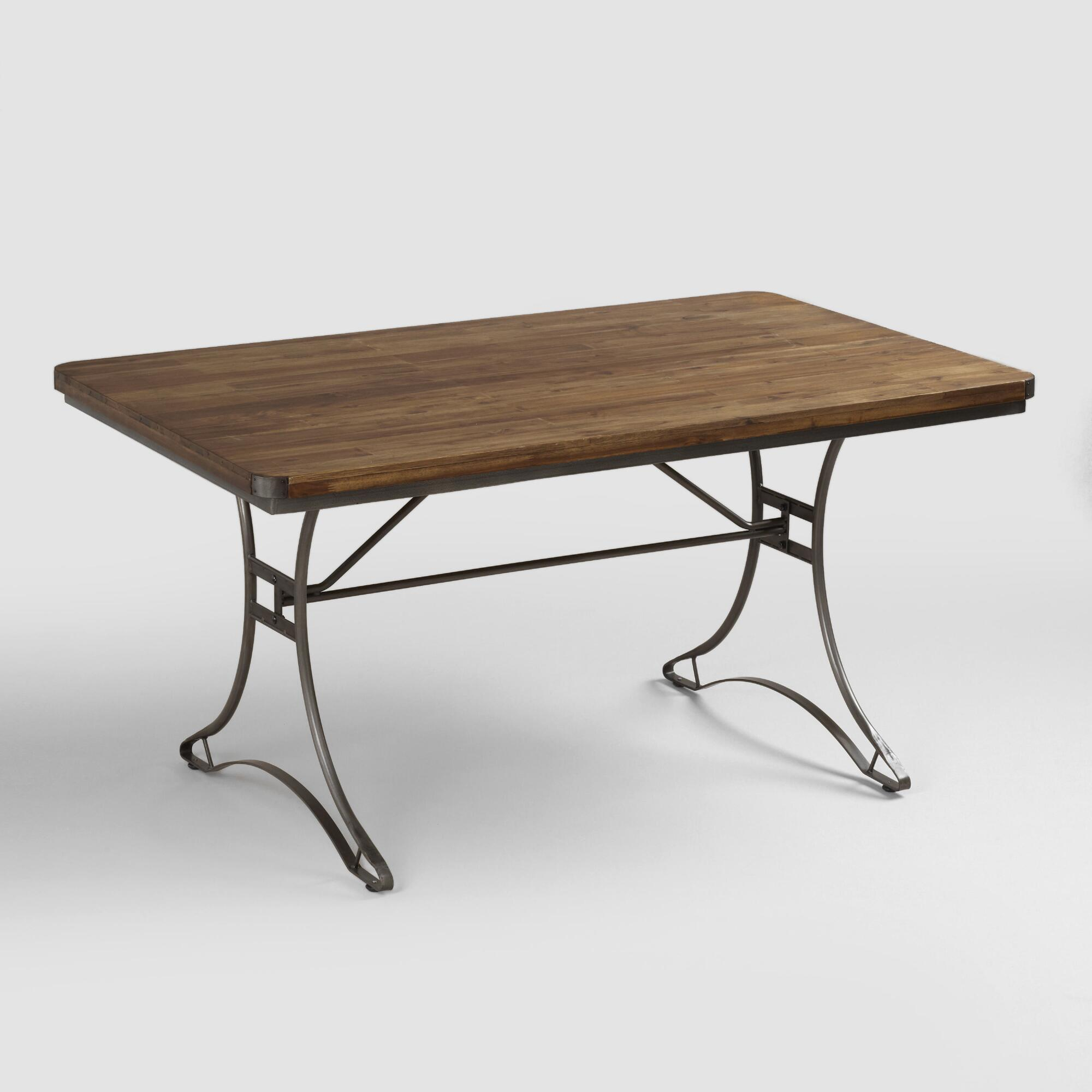 Jackson Rectangular Table With Metal Base World Market: metal table base