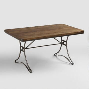 Jackson Rectangular Table with Metal Base