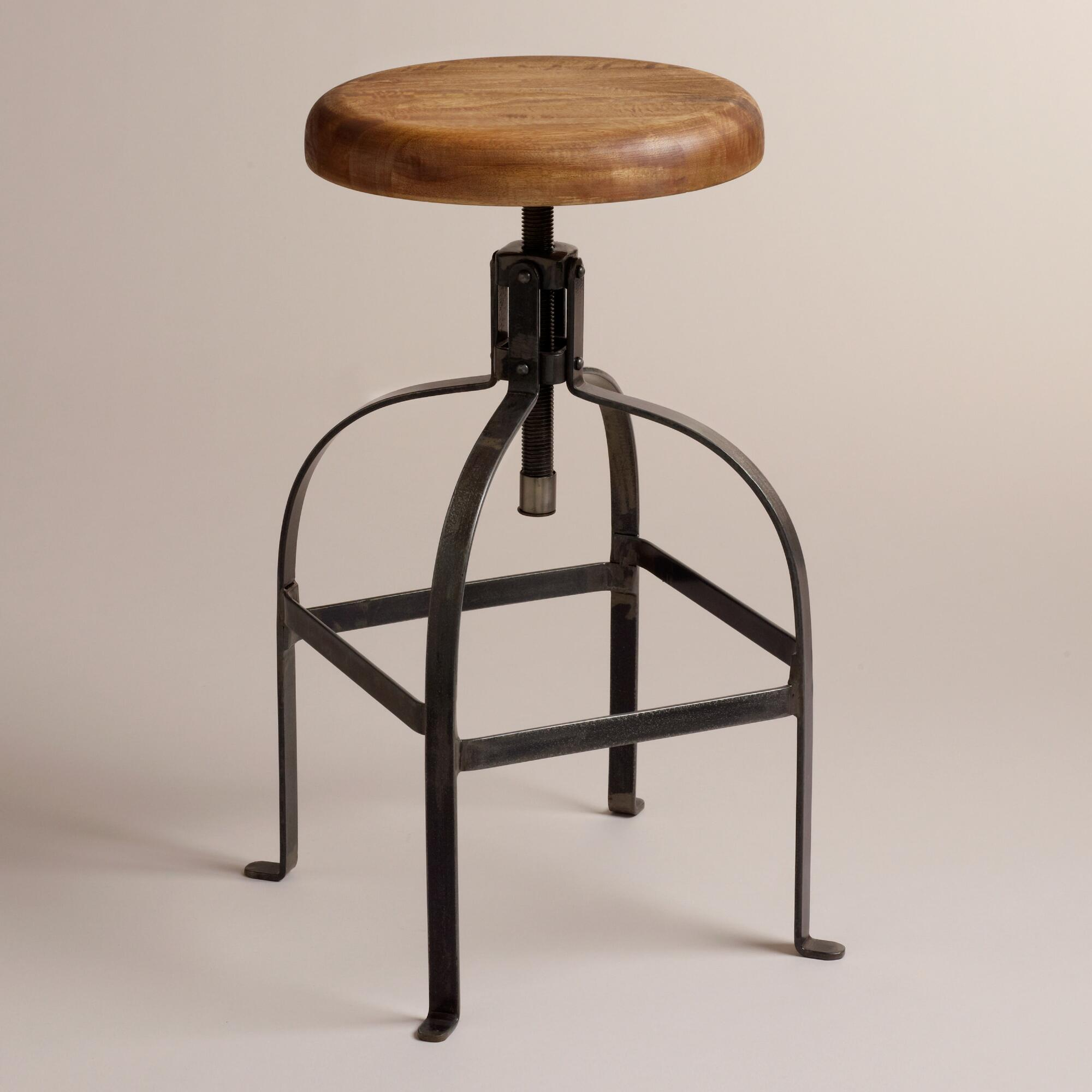 Superb img of Twist Swivel Stool from Cost Plus World Market with #6B452A color and 2000x2000 pixels