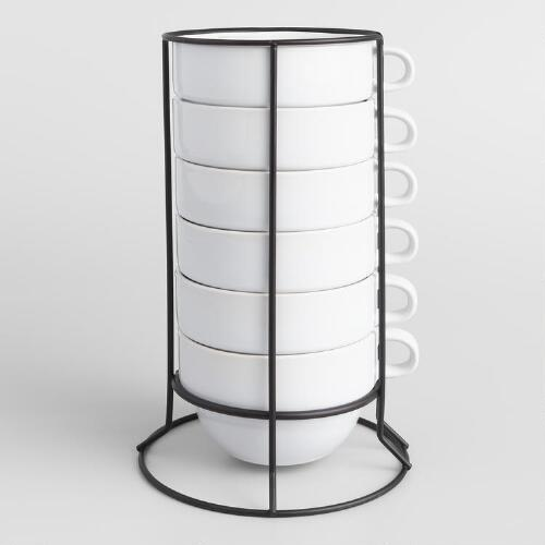 Stacking Jumbo Mugs Sets of 6