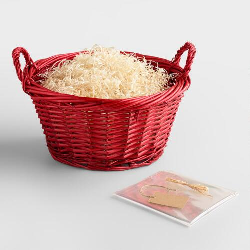 Large Gift Basket Kit, Red