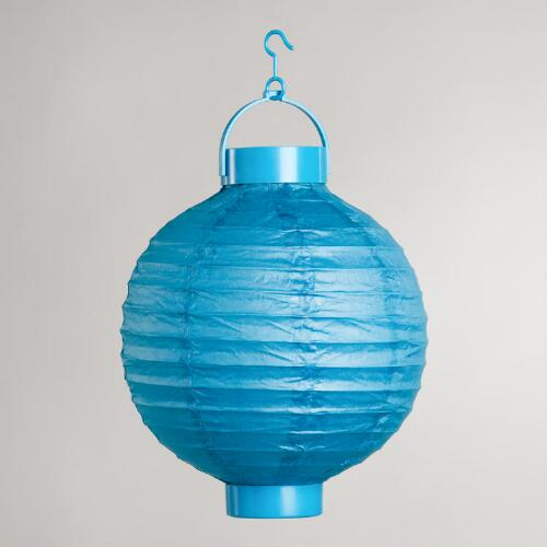 Capri Breeze Battery-Operated Paper Lanterns, Set of 4