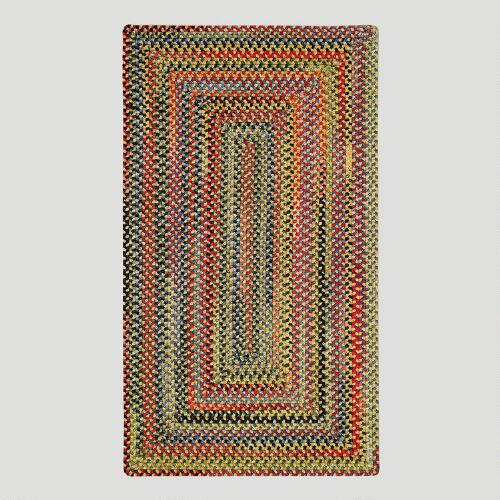 Goldfinch Concentric Rectangle Plymouth Braided Rug