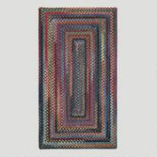 Plymouth Concentric Rectangle Braided Rug, Blue Jay