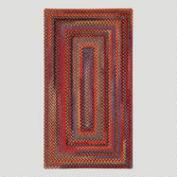 Cardinal Concentric Rectangle Plymouth Braided Rug