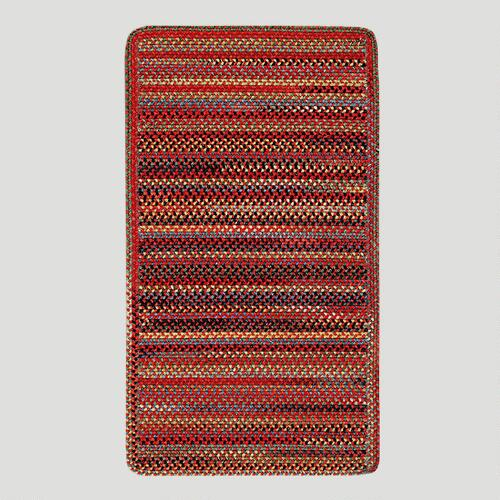 Cardinal Striped Plymouth Braided Rug