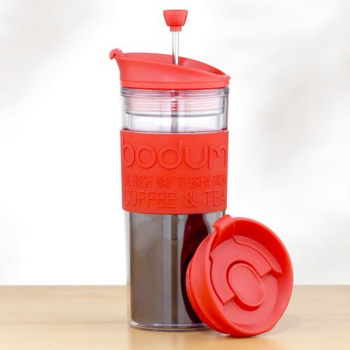 Travel French Press, Red