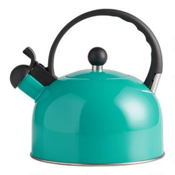 Aqua Enamel Tea Kettle