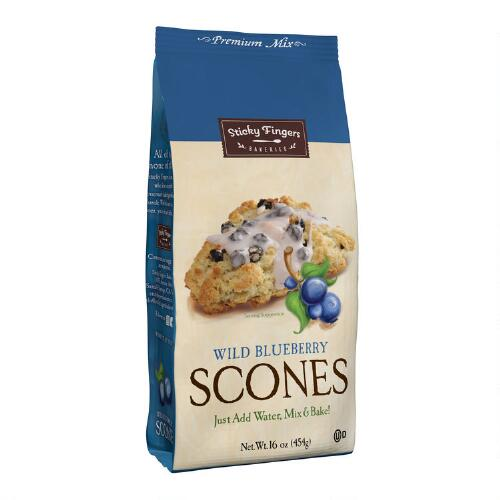Sticky Fingers Bakeries Wild Blueberry Scones Mix, Set of 6
