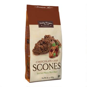Sticky Fingers Bakeries Cocoa-Chocolate Chip Scones Set of 6