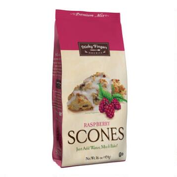 Sticky Fingers Bakeries Scones Mix, Raspberry, Set of 6