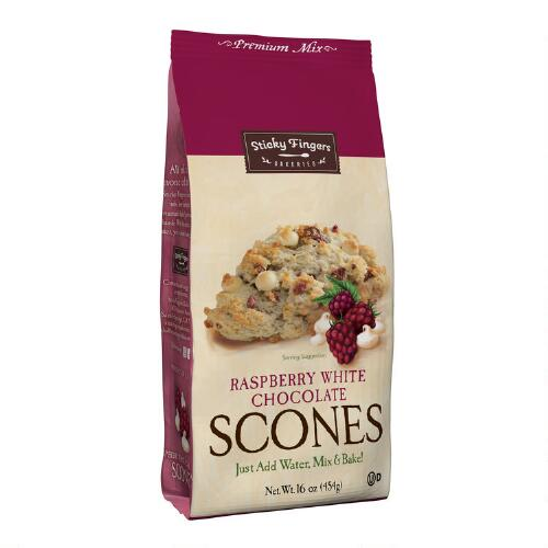 Sticky Fingers Bakeries Raspberry White Chocolate Scone Mix