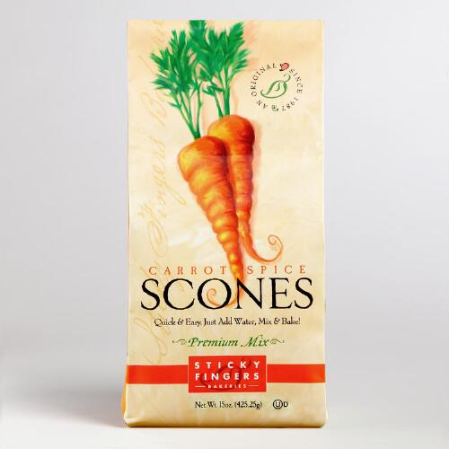 Sticky Fingers Bakeries Scones Mix, Carrot Spice, Set of 6