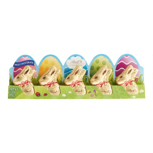 Lindt Gold Mini Bunnies, 5-Pack