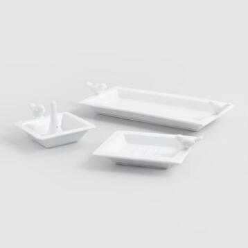 Bird Ceramic Bath Accessories Collection